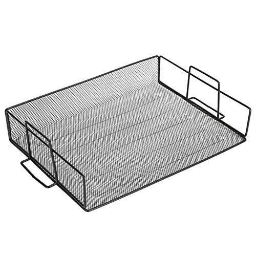 Organizador de almacenamiento de escritorio con bandeja de archivos para oficina en casa