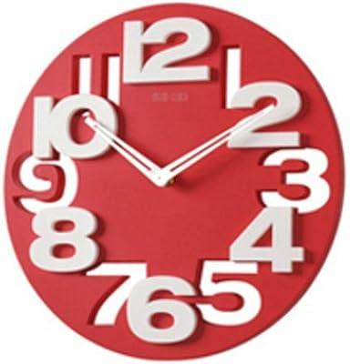 Wall Clock, Modern, Simple European Style Large 3D Wall Mount Clock, Color Digital