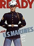 Posterazzi Digitally restored propaganda Marine Corps recruiting World War II features a sergeant wearing his dress blues Poster Print, (12 x 16)