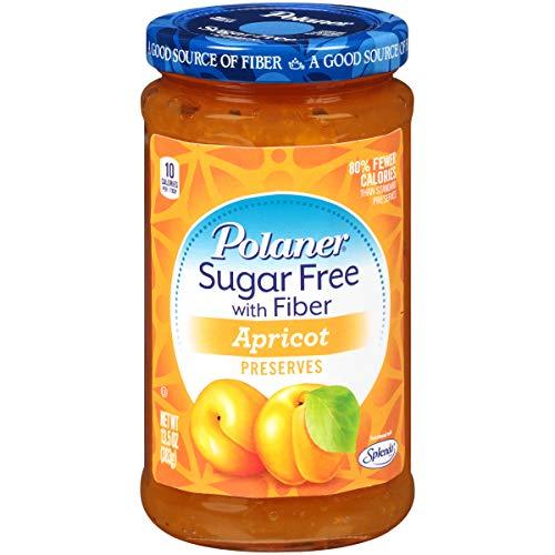 Polaner Sugar Free with Fiber, Apricot Jam, 13.5 Ounce