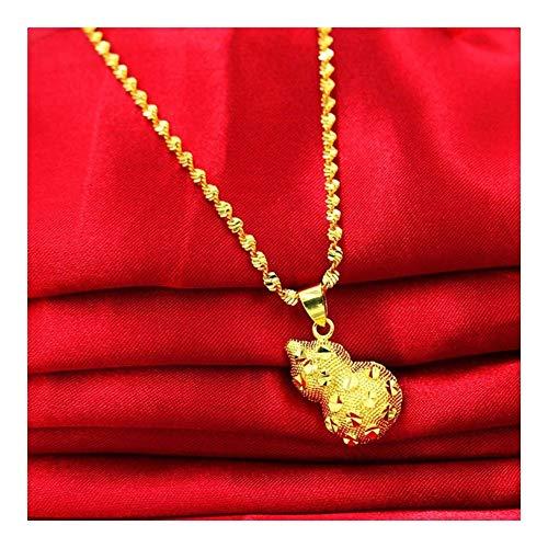 SHOYY Collar de la Boda Mujer cristalina de Lujo de la Calabaza de los Colgantes del Real Color Mujeres joyería de la Cadena Linda Collares for Las Mujeres (Metal Color : MJSD0004)