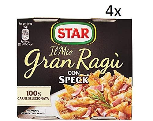 4x Il mio Gran ragu Star speck tomatensauce 2x 180g sauce mit speck Tomatensuppe