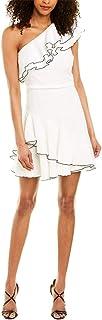 فستان نسائي بتفاصيل مكشكشة بكتف واحد من Halston Heritage