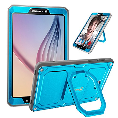 Fintie Case for Samsung Galaxy Tab A 10.1 (2016 NO S Pen Version), [Tuatara Magic Ring] 360 Rotating Multi-Functional Grip Stand Shockproof Cover Built-in Screen Protector, Sky Blue