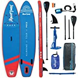 "AQUAPLANET PACE SUP Inflatable Stand Up Paddle Board Kit | 6"" Thick 