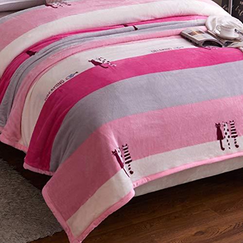 LIANG Fleece queen size filtar, mikroplush filtar, filtar tvilling storlek, lätt, mysigt och varmt, mjukt kasta filt passande soffa soffa lämplig för hela säsongen (150 * 200cm / 59 * 78in)