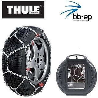 Schneekette THULE CB 12 PKW für die Reifengröße 195/55 R16 Preis Leistungs Sieger (1 Satz   2 Stück Schneeketten) im Set mit hochwertigen Handschuhen