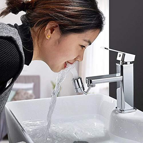 Grifo universal para filtro de salpicaduras, cabezal de rociador giratorio de 720 °, 2 modos de salida de agua ajustable, extensor alargador de lavabo con filtro de red de 4 capas