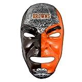 Franklin Sports NFL Cleveland Browns Fan Face Mask - Team Fan Masks for NFL Football Games and Tailgates - Sports Fan Face Mask - Face Paint Masks