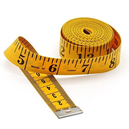『Jimjis メジャー 3m 巻尺 テープメジャー インチ センチ 裁縫 巻き尺 300cm 120inch 服 ウエスト メジャー tape measure テーラー縫製 バスト インチ センチ コンパクト スリーサイズ 測定用』の1枚目の画像
