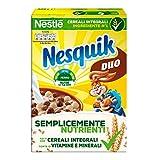 NESQUIK DUO Palline di cereali integrali al cioccolato e palline ricoperte di cioccolato bianco 325g