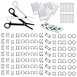 BodyJ4You 200PC Body Piercing Kit Lot 14G 16G Belly Ring Labret Tongue Tragus Barbells Bas...