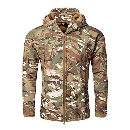 Jianhui Herren Jacken Outdoor Warm Wasserdicht Camouflage Hoodie Herbst Winter Camping Military -CP_M