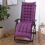 POETRY Cojín para silla mecedora, espesar universal para asiento de interior, cojines con cordones, cojines para silla mecedora, cojines reclinables, 48 x 170 cm (19 x 67 pulgadas)