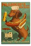 Lantern Press Savannah, Georgia - Dachshund - Retro Hotdog Ad 66478 (6x9 Aluminum Wall Sign, Wall Decor Ready to Hang)