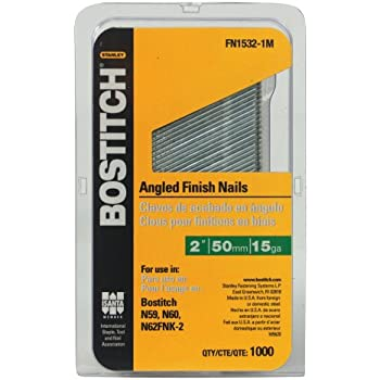 25 Degree Angled Finish Nails FN 4 Bostitch N60 N62FNK  2 1//2 15 Gauge 3,500