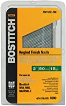 BOSTITCH Finish Nails, FN Style, Angled, 15GA, 2-Inch, 1000-Pack (FN1532-1M)