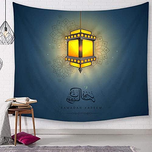 GDFEH Tapice Tapices De Pared Decoración De Ramadán Tapiz Decoración del Hogar Fondo De TV Tapiz De Paisaje De Pared para Regalo De Decoración del Hogar (Color : A, Size : 73 * 95cm Thin Sanding)