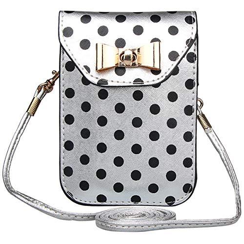 Xidan Stilvoll Einzel Schultertasche Handtasche aus PU Leder für iPhone X 8 7 6 Plus, Samsung S8 S9 Plus, Huawei P8 P9 P10 Lite und andere unter 6 Zoll