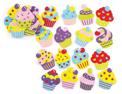 """Baker Ross Moosgummi-Aufkleber """"Cupcake"""" – Kreatives Bastelmaterial für Kinder zum Dekorieren (120 Stück)"""
