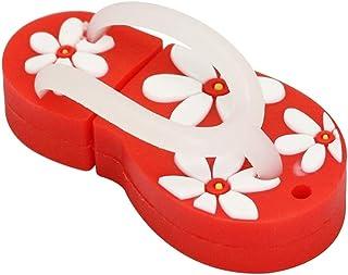 USB Flash Drive 32GB Cartoon Flower Slippers USB Stick Red Shoes Design Pen Drive USB 3.0 Thumb Drive Fast Transfer Storag...