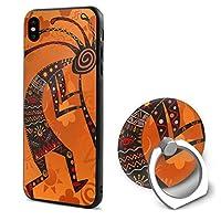 エスニックアフリカの神 IPhoneX スマホ 保護ケース リング付き アイフォンケース おしゃれ 薄型 TPU かわいい スリム 対応 全面クリア 耐衝撃 軽量 人気 簡単