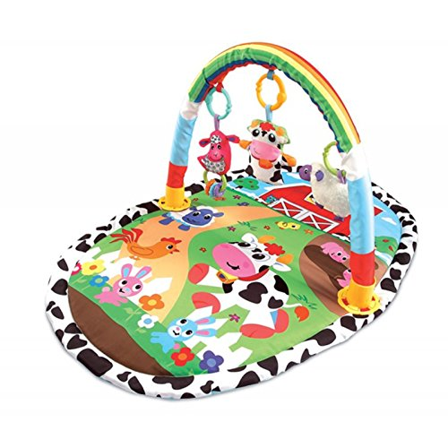 pädago Estratégica Alfombrilla parte Espacio Aprendizaje Interactivo spielmatte Diversión arco experiencia–Manta para gatear, Baby Centro de juegos Baby + Ecotoys Juguetes