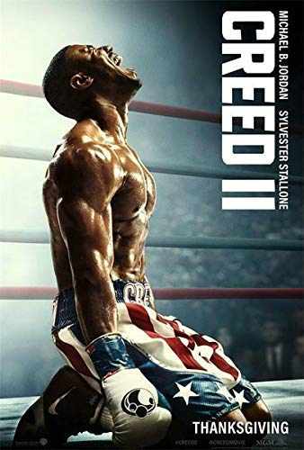 DKISEE Creed II Movie Poster Rocky Balboa Michael B Metal Tin Sign 8x12 inch