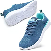 STQ Tennis Shoes for Women Lightweight Athletic Walking Sneakers 7 Navy/Teal