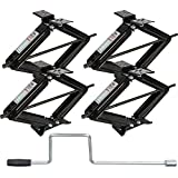 Weize RV Trailer Camper Stabilizer Leveling Scissor Jacks with Handle-24'- 5000lbs - Set Of 4