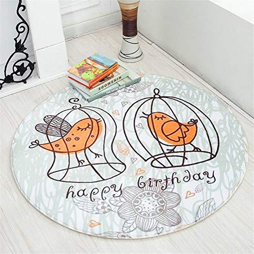Jinclonder Tapijt Round Earth Mat Draaistoel Computerstoel Kinder-Krabbelmat Cartoon-mat zachte buitenlaag met comfortabele vulling voor uw babykruipmat