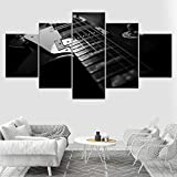 diedfd 5 Pièce Toile Mur Art La Guitare Électrique Affiches Maison Mur Art Décor Toile Peintures pour Salon Modulaire HD Prints Photos
