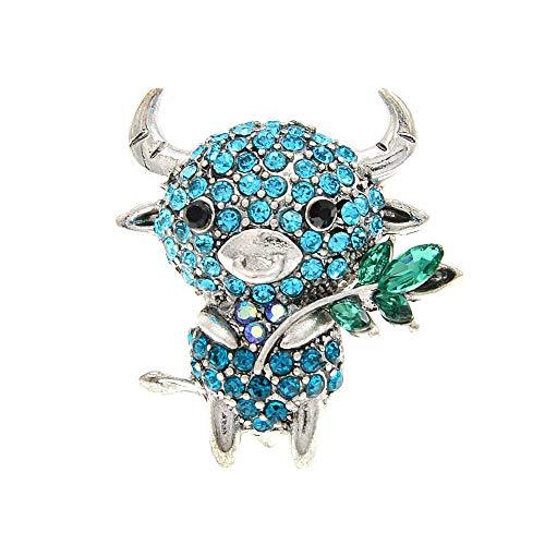 GLKHM Retro Broche Pin Broches De Moda Mujer Vaca Pin Animal Accesorios