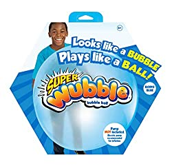 Looks like a bubble, plays like a ball Super Wubble is squishy, squashy, super soft and lightweight and can be inflated up to 80 cm tall Needs to be pumped up using electric pump (not included) For ages 6+ years