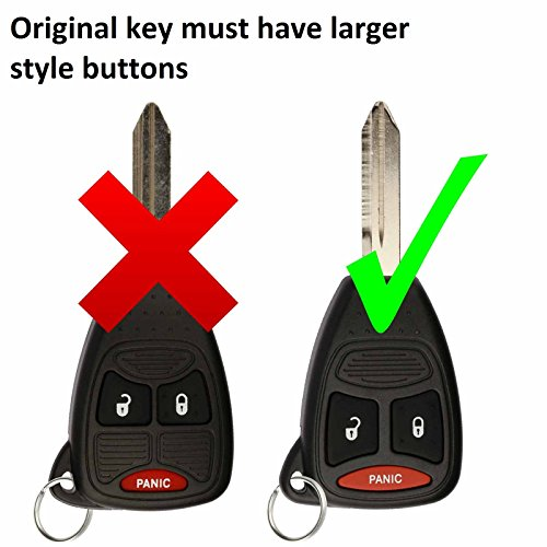 KeylessOption Just the Case Keyless Entry Remote Control Car Key Fob Shell Replacement for KOBDT04A-Blue