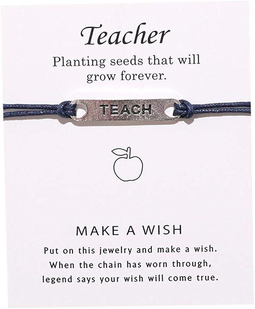 Teacher Blessing Card Bracelets Teacher Gifts Morse Code Beaded Bracelet Colorfu Greeting Bracelets Card Teacher Blessing Bangles Teacher's Day Gift for Teachers from Student