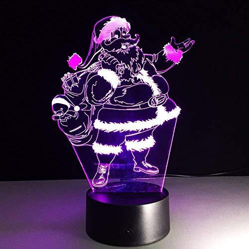 Lámpara de sueño LED 3D Old man7 Lámpara de escritorio con interruptor táctil que cambia de color para niños, niñas, niños, cumpleaños, regalos de Navidad