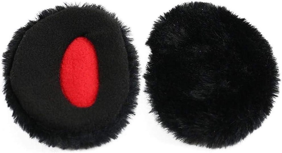 ZYXLN-Earmuffs,Bandless Ear Warmers Ear Muffs for Men & Women Fleece Bandless Ear Warmers Earmuffs Winter Ear Covers Outdoor Fleece Ear Muffs for Men Women Kids (Color : Black, Size : M)