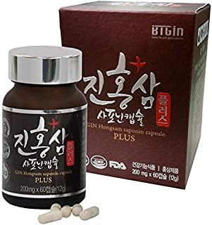 Korean Fermented Red Panax Ginseng Extract Powder 12000mg - High Ginsenosides for Natural Energy, Compound-K, RG3 Performance & Focus Pills for Men & Women ?? 60 Vegan Capsules ??
