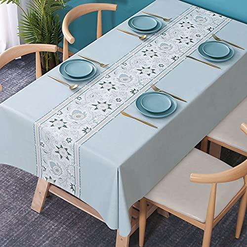 LIUJIU Mantel rectangular de vinilo a cuadros, mantel de PVC, fácil de limpiar, apto para mesa de comedor, fiesta de autoservicio y campamento, 100 x 160 cm