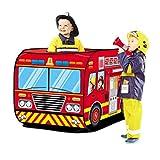 deAO Casita de Juegos Infantil Carpa para Niños y Niñas Tienda con Diseño Pop Up Auto Armable Montaje Rápido Actividades Recreativas al Interior y Exterior Área de Recreo (Camión de Bomberos)