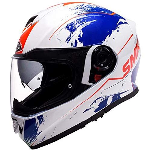 SMK Helmets - Twister - Wraith - Gloss White Blue Red -...