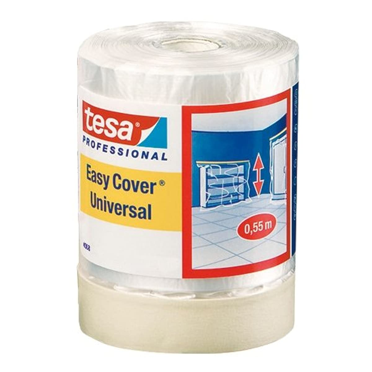 Tesa Easy Cover 4368 04368-00011-01 Premium Masking Tape with Cover Sheeting 33 m x 300 mm by tesa UK