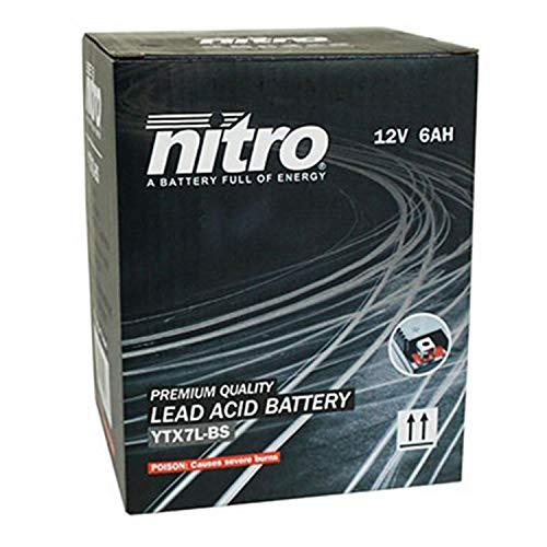 YTX7LBS Nitro accu, 12 V, 6 Ah, onderhoudsvrij, (Lg114 x L71 x H131)