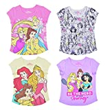 Disney Princess Girl's 4 Pack Short Sleeves Tee Shirt...
