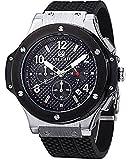 Megir Men's Black Dial Chronograph Casual Sport Quartz Watch