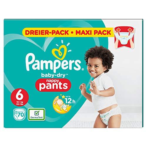 Pampers Babay-Dry Pants, Gr. 6, 15kg+, Dreier-Pack (1 x 70 Windeln)