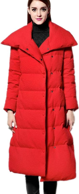 ZZHH Women's thick irregular long down jacket