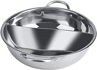 Yxp Tamaño De Acero Hot Pot 2 Compartimiento Separador De Inducción Sabor Separación De Pulido Cocina De Sopa De Olla De Cocina Utensilios Disponible