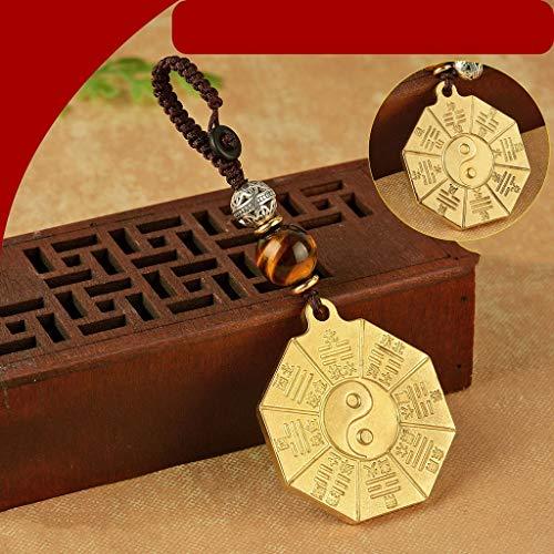 liangzishop Chino Espejo Bagua Bagua Espejo, Chino Tradicional Feng Shui Espejo Exorcismo de Protección Magic Espejo Amuleto Lucky Craft Arte taoísmo Decoración Tradicional Feng Shui Espejo